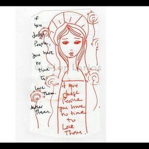 Flor Larios Original Art Block Mother Theresa